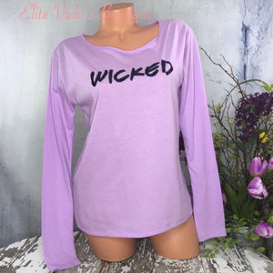 BLING SEQUINED WICKED LONG SLEEVED LOUNGE TEE NWT